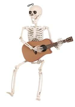 Animated Skeleton w/ Guitar Decoration