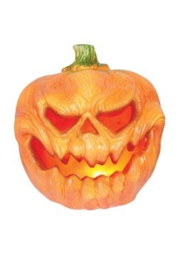 Light Up Creepy Pumpkin Decoration