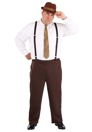 Click Here to buy Mens Plus Clyde Costume from HalloweenCostumes, CDN Funds & Shipping