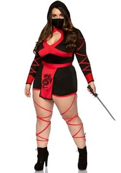 Women's Plus Size Dragon Ninja Costume