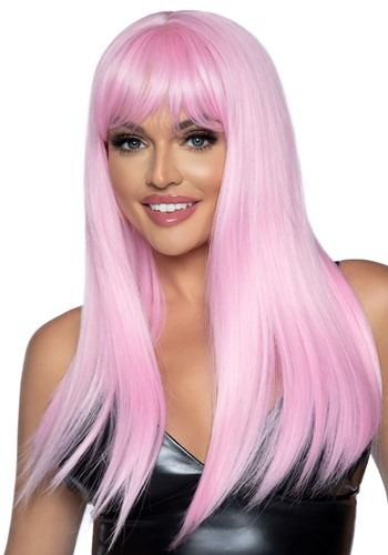 Long 24  Straight Pink Wig