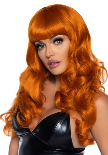 Click Here to buy Long 24  Wavy Bang Ginger/Orange Wig from HalloweenCostumes, CDN Funds & Shipping