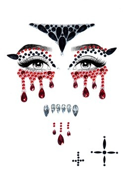 Vampire Adhesive Face Jewel Kit