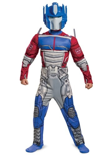 Kids Transformers Muscle Optimus Prime Costume