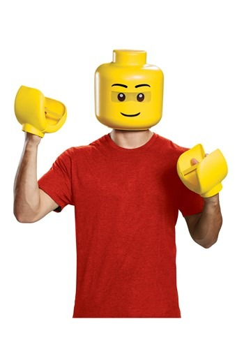 Click Here to buy Adult LEGO Mask and Hands Kit from HalloweenCostumes, CDN Funds & Shipping