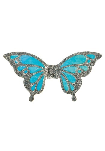 Kids Silver Glitter Iridiscent Butterfly Wings Accessory