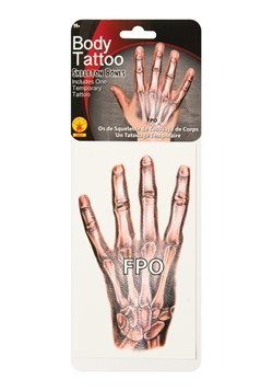 Skeleton Bones Hand Tattoo
