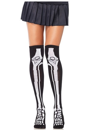 Click Here to buy Skeleton Knee High Socks from HalloweenCostumes, CDN Funds & Shipping