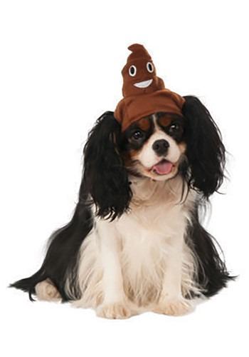 Dog Costume Poop Emoji Accessory