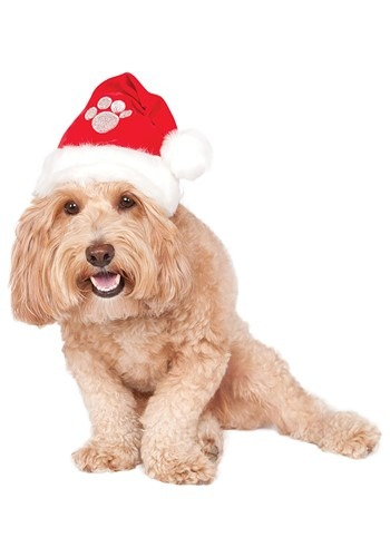 Click Here to buy Dog Santa Hat Costume Accessory from HalloweenCostumes, CDN Funds & Shipping