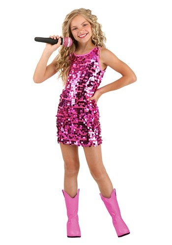 Pink Pop Singer Costume for Girls