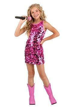 Girl's Pink Pop Singer Costume