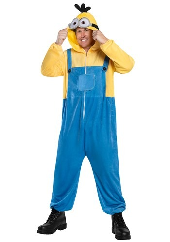Minion Oversized Hooded Adult Jumpsuit