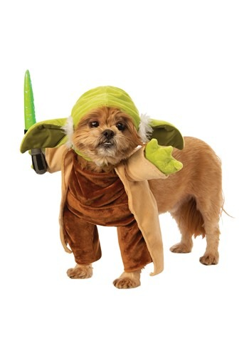 Click Here to buy Walking Yoda with Lightsaber Dog Star Wars Costume from HalloweenCostumes, CDN Funds & Shipping