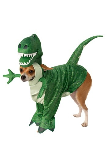 Click Here to buy Rex Toy Story Dog Costume from HalloweenCostumes, CDN Funds & Shipping