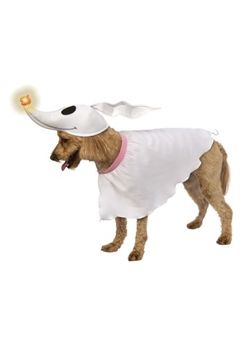Click Here to buy Nightmare Before Christmas Zero Dog Costume w/ Light-up Nose from HalloweenCostumes, CDN Funds & Shipping
