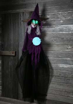 Plastic Light Up Animated Crystal Ball Witch Décor