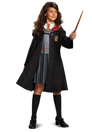 Click Here to buy Harry Potter Classic Girls Hermione Costume from HalloweenCostumes, CDN Funds & Shipping