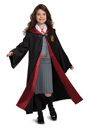 Click Here to buy Harry Potter Girls Deluxe Hermione Costume from HalloweenCostumes, CDN Funds & Shipping