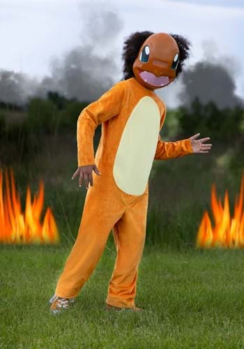 Click Here to buy Pokemon Classic Charmander Kids Costume from HalloweenCostumes, CDN Funds & Shipping