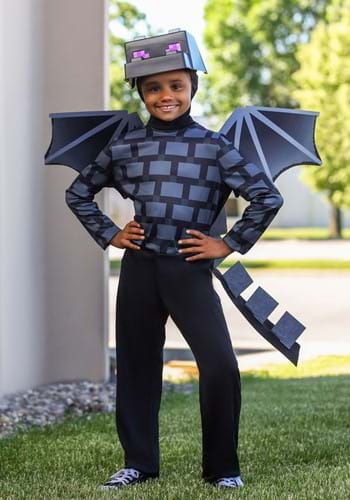 Click Here to buy Minecraft Classic Ender Dragon Kids Costume from HalloweenCostumes, CDN Funds & Shipping