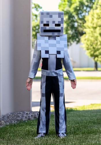 Click Here to buy Minecraft Classic Kids Skeleton Costume from HalloweenCostumes, CDN Funds & Shipping