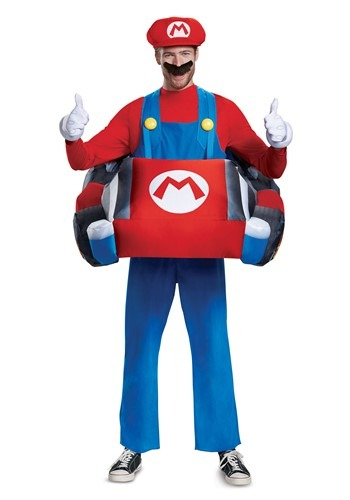 Click Here to buy Mario Kart Inflatable Kart Adult Costume from HalloweenCostumes, CDN Funds & Shipping