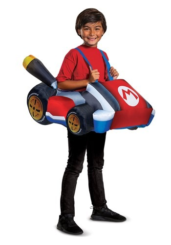 Click Here to buy Mario Kart Inflatbale Kart Kids Costume from HalloweenCostumes, CDN Funds & Shipping