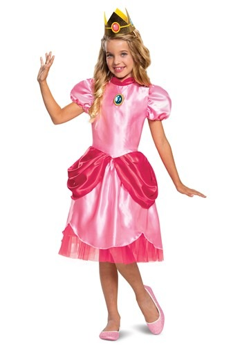 Super Mario Classic Princess Peach Girls Costume