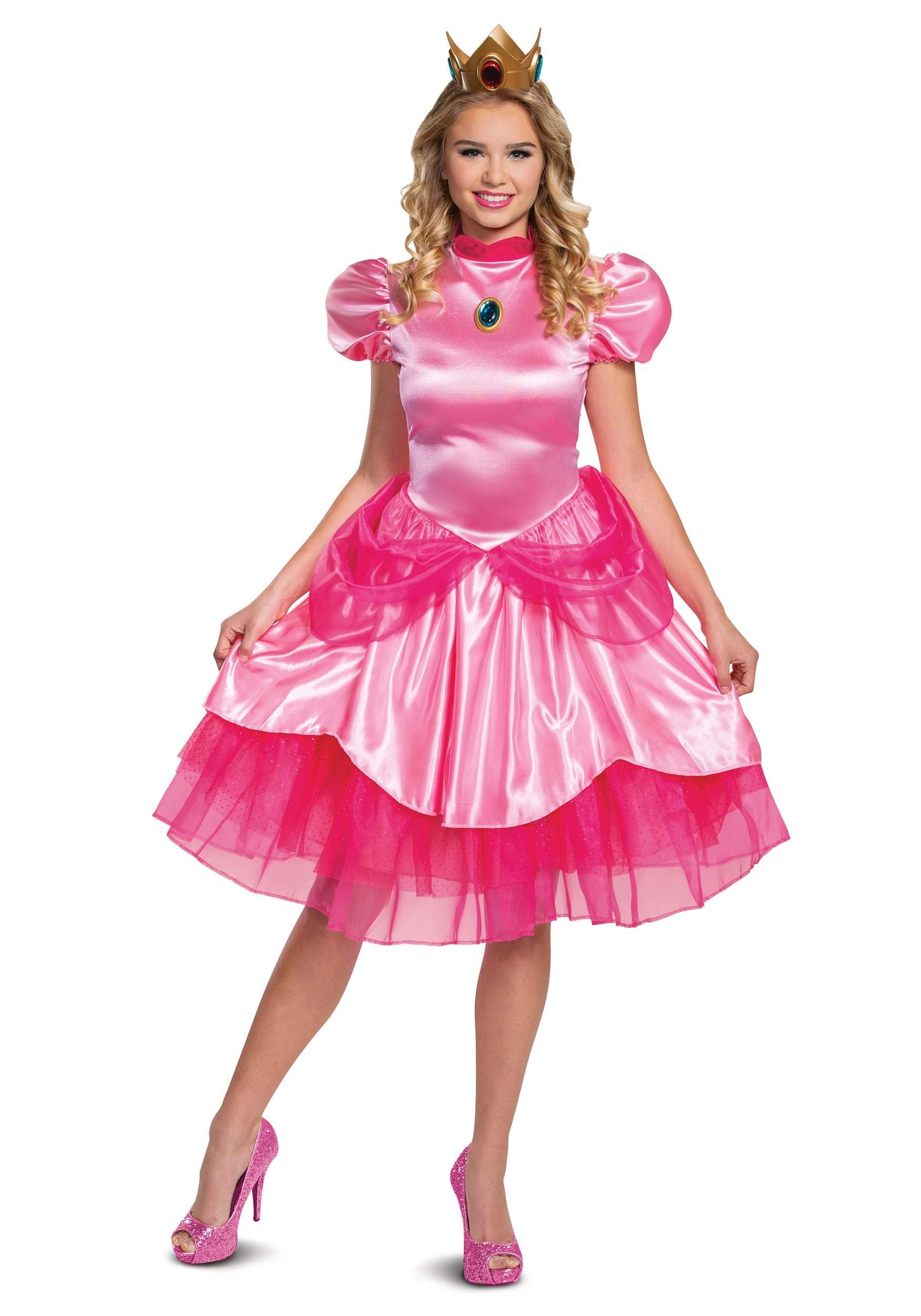 Princess Peach Wig Super Mario Bros Costume Accessory Adult Womens Blonde