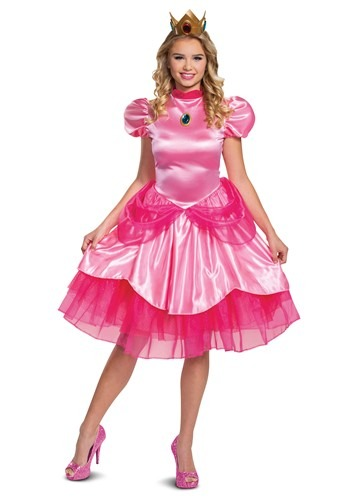 Super Mario Deluxe Princess Peach Womens Costume