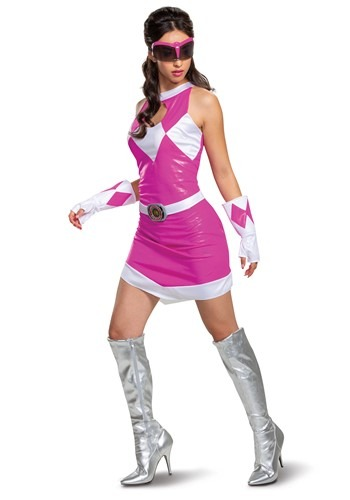 Click Here to buy Womens Power Rangers-Deluxe Pink Ranger Costume from HalloweenCostumes, CDN Funds & Shipping