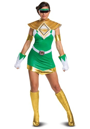 Click Here to buy Power Rangers Womens Deluxe Green Ranger Costume from HalloweenCostumes, CDN Funds & Shipping
