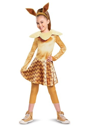 Click Here to buy Pokemon Girls Deluxe Eevee Costume from HalloweenCostumes, CDN Funds & Shipping