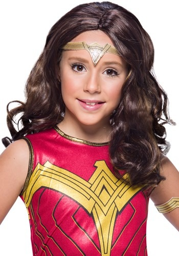 Click Here to buy Kids Wonder Woman Wig from HalloweenCostumes, CDN Funds & Shipping