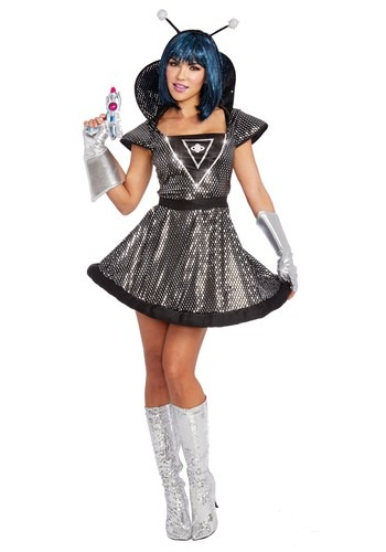 Women's Sexy Light Up Spaced Out Costume