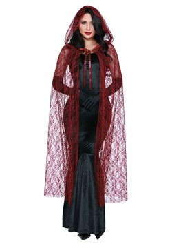 Women's Bewitching Beauty Red Lace Cape