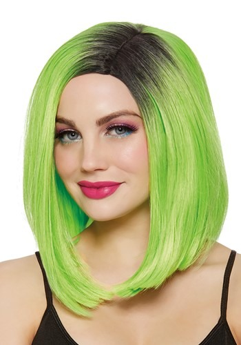 Lime Green Womens Bob Wig