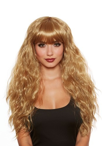 Long Honey Brown Wave Wig for Women