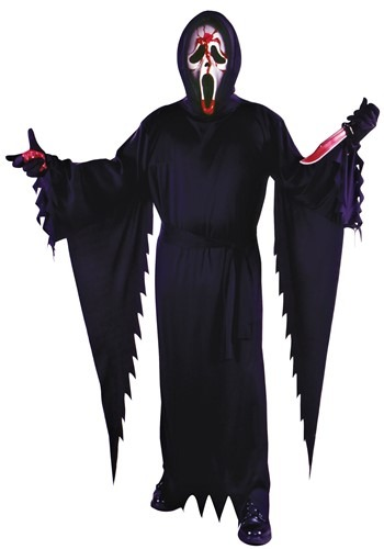 Click Here to buy Bleeding Ghost Face Adult Costume from HalloweenCostumes, CDN Funds & Shipping