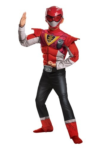 Classic Beast Morphers Power Rangers Child Red Ranger Power Up Costume
