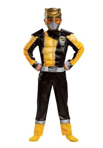 Click Here to buy Power Rangers Classic Beast Morphers Gold Ranger Kids Costume from HalloweenCostumes, CDN Funds & Shipping