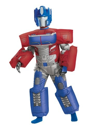 Click Here to buy Inflatable Transformers Kids Optimus Prime Costume from HalloweenCostumes, CDN Funds & Shipping