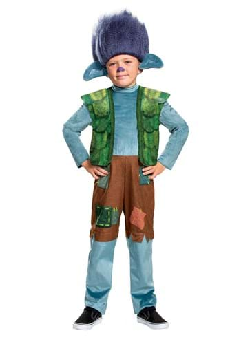Click Here to buy Boys Trolls World Tour Deluxe Branch Costume from HalloweenCostumes, CDN Funds & Shipping