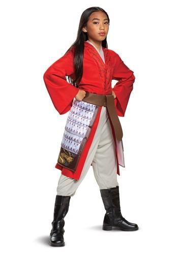 Mulan Deluxe Hero Red Girls Costume