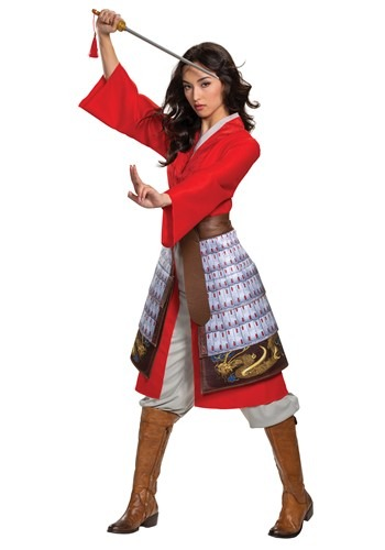 Womens Mulan Deluxe Hero Red Costume
