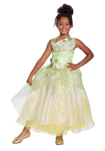 The Princess & The Frog Deluxe Tiana Girls Costume