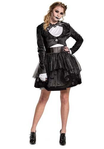 Nightmare Before Christmas Womens Jack Skellington Dress Costume