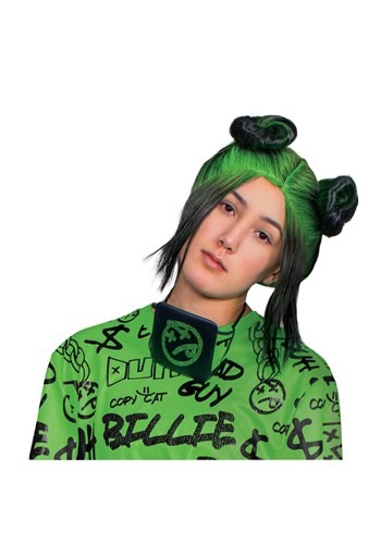 Billie Eilish: Adult Green Double Bun Wig