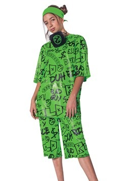 Child's Classic Green Billie Eilish Costume